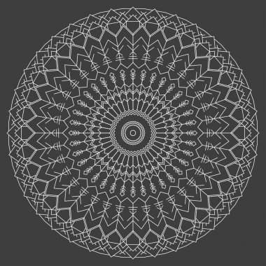 Hand drawn ornamental ethnic round. handmade lace abstract artwork