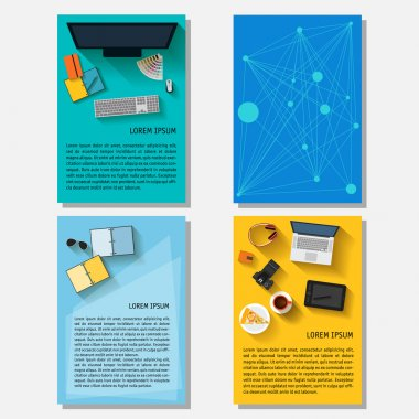 Business time theme. Collection with everyday life electronic objects