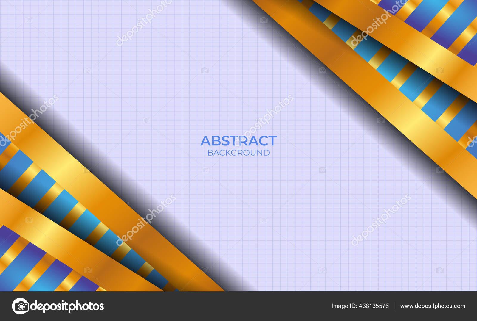 Latar Belakang Biru Dan Emas Abstrak — Stok Vektor © MZNF #438135576