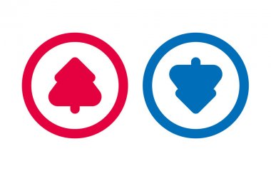 Design Tree Up Down Arrow Icon BLue And Red icon