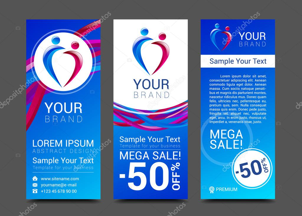 E-learning School Vector Illustration Banners. Flat People Learn ... | 731x1023