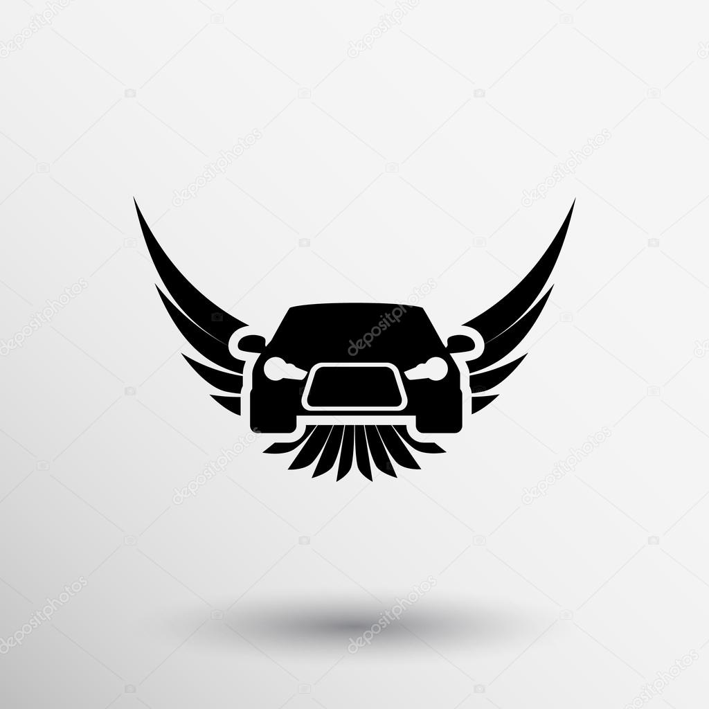 Auto Emblems Vector Icons Car Wheel Shield Crown Wings Logo Icon