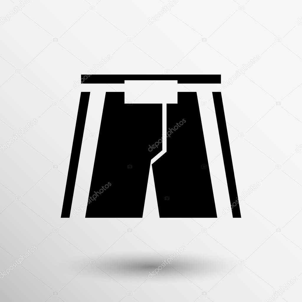 muaythai boxing pants icon shorts symbol male logo stock vector rh depositphotos com