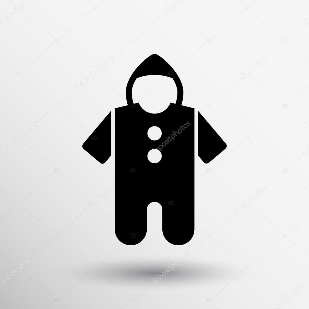 Baby Clothes Icon Boy Girl Child Silhouette Logo Stock Vector