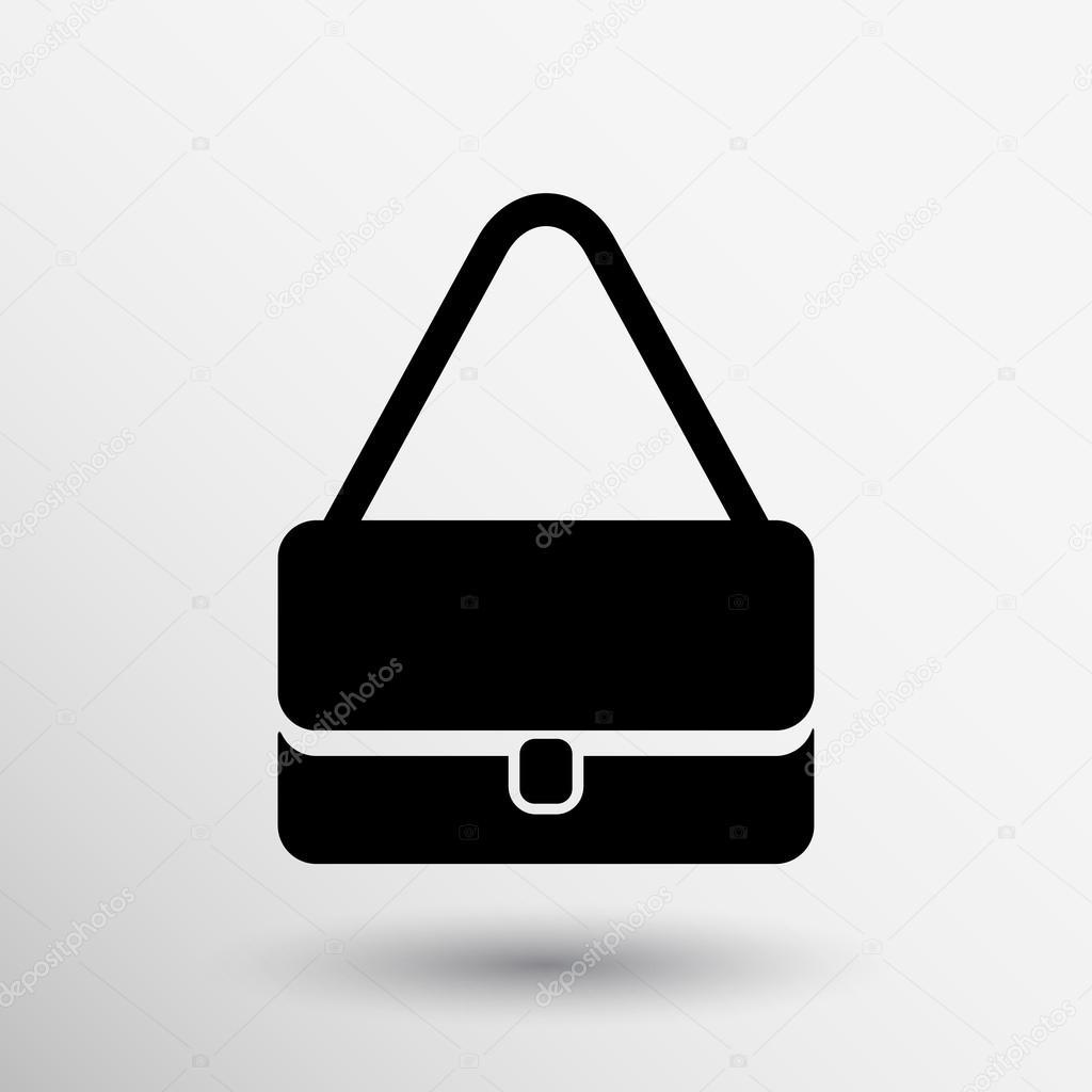 Handbag vector icon women bag isolated retail logo — Stock Vector ... af82129b31