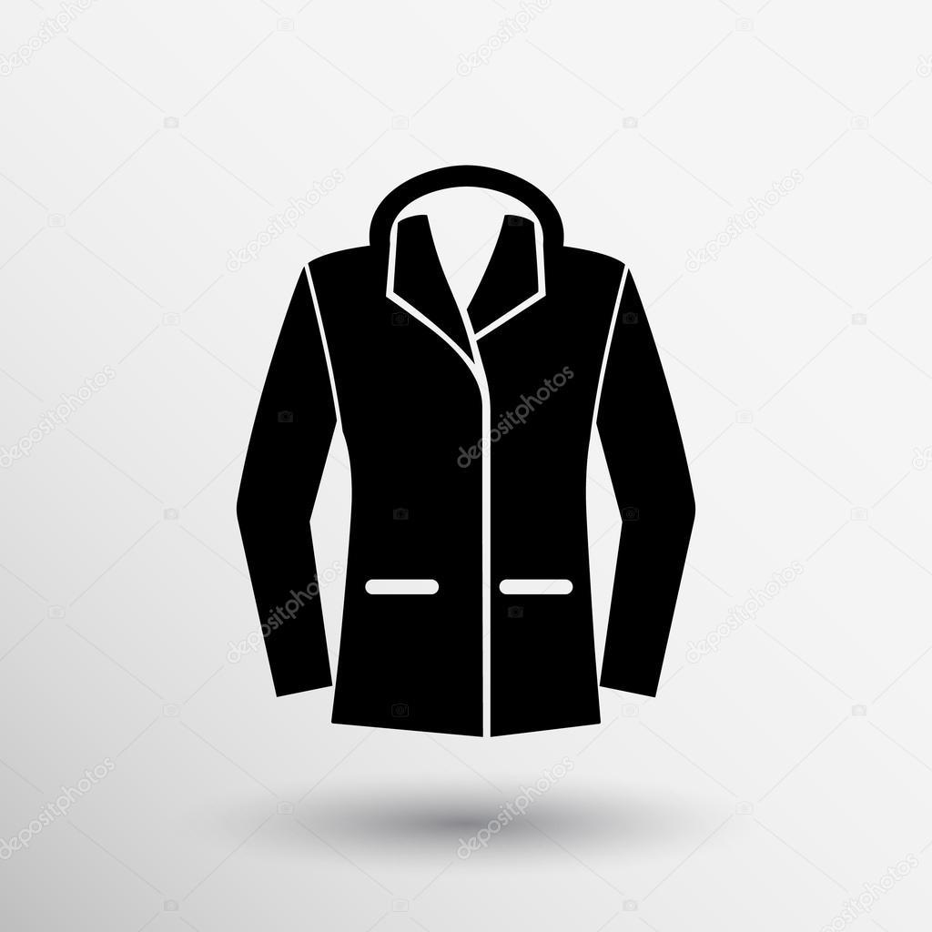 Ladies Jacket Icon Symbol Design Coat Logo Stock Vector C Moleks