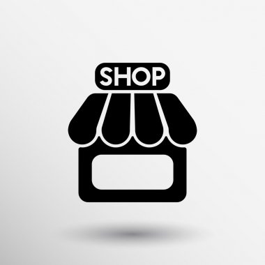 Store icon retail vector front storefront market chop