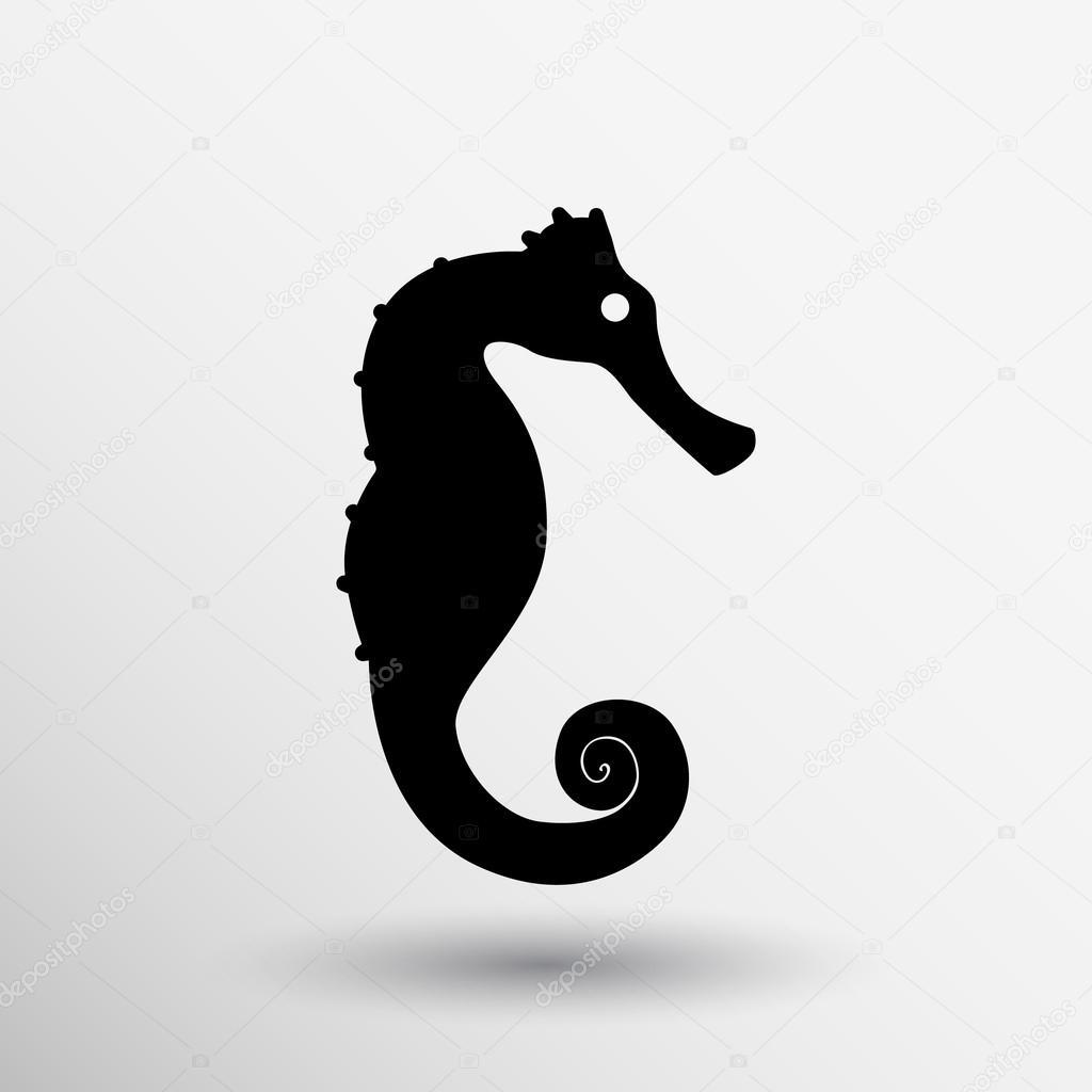 Siluetta Stilizzata Di Un Cavalluccio Marino Logo Design Per L