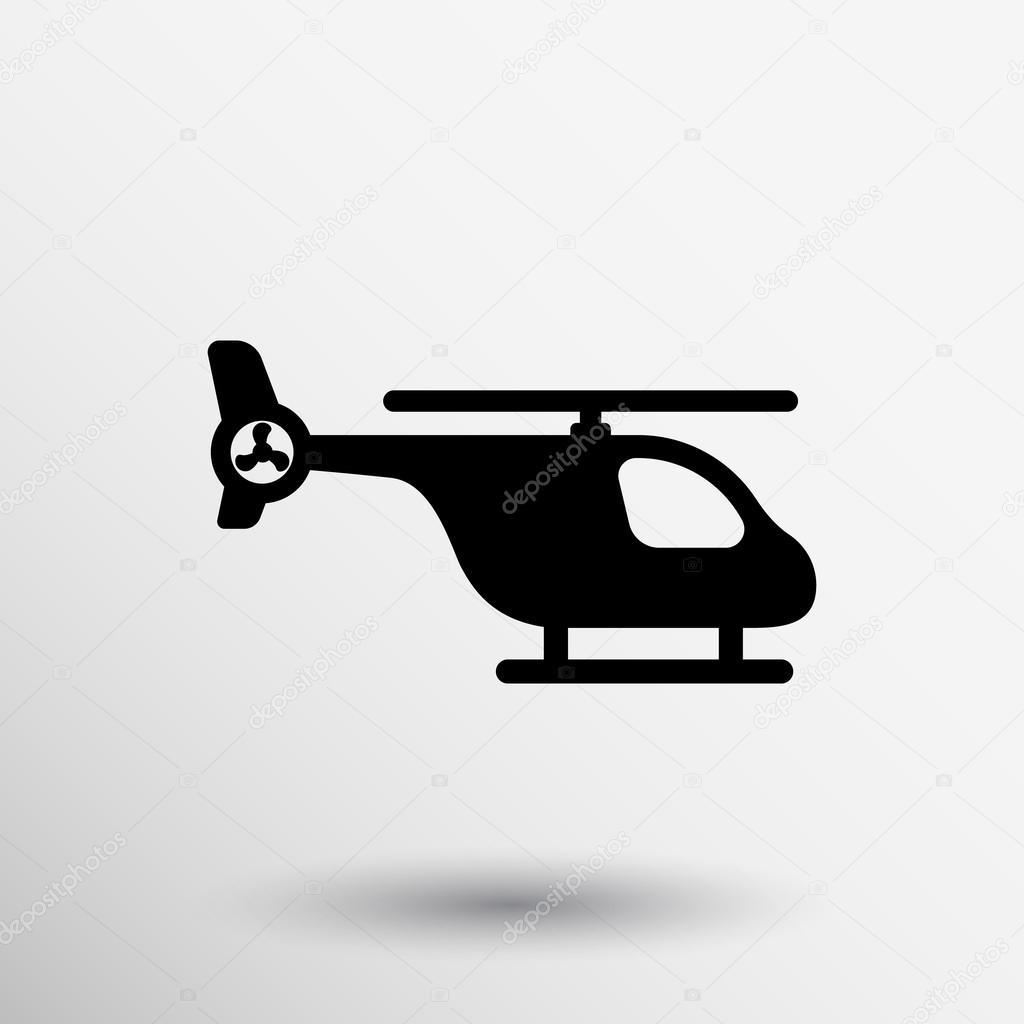 L Elicottero Posizione : Indicatore della mappa con l icona di un elicottero u vettoriali