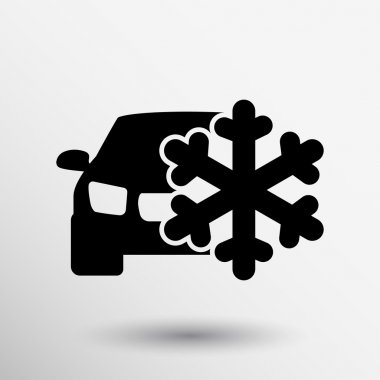 Air direction auto air conditioning snowflake icon