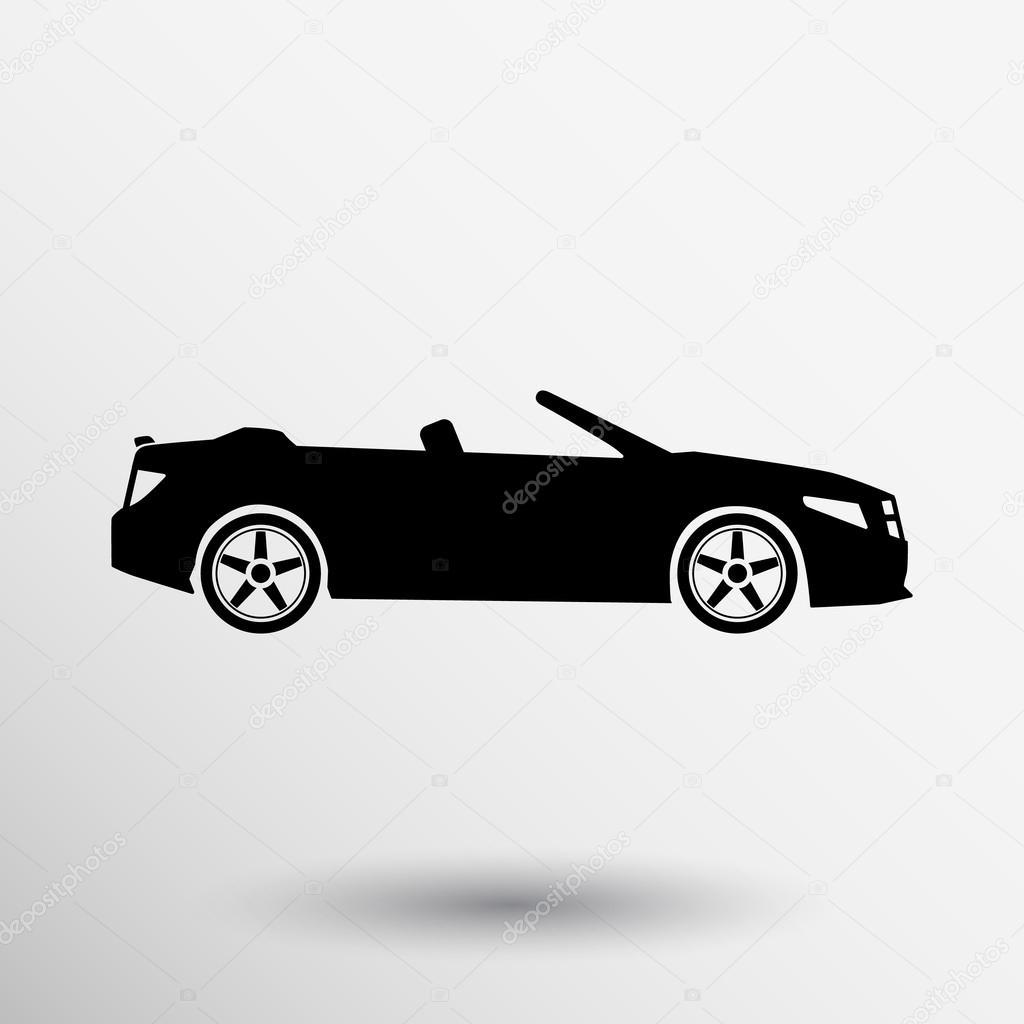 Convertible Sports Car Icon Vector Symbol Graphic Vehicle Automobile