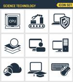 Photo Icons set premium quality of data science technology, machine learning process. Modern pictogram collection flat design style symbol collection. Isolated white background.