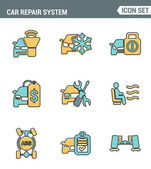 Fotografie Icons line set premium quality of car repair system icon automobile instrument service. Modern pictogram collection flat design style symbol . Isolated white background