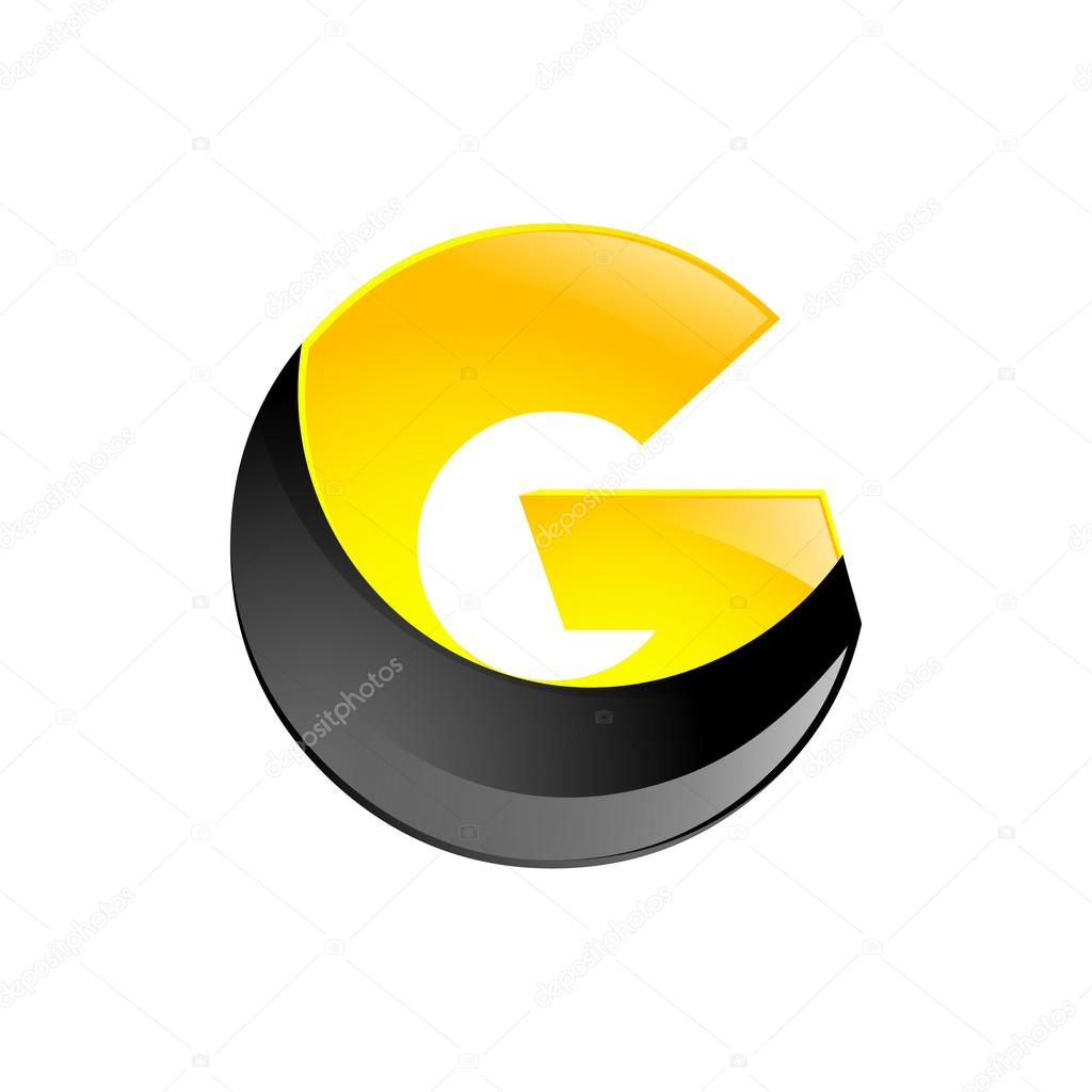 Creative Yellow And Black Symbol Letter G For Your Application Or Company Design Alphabet Graphics 3d Vector By Moleks