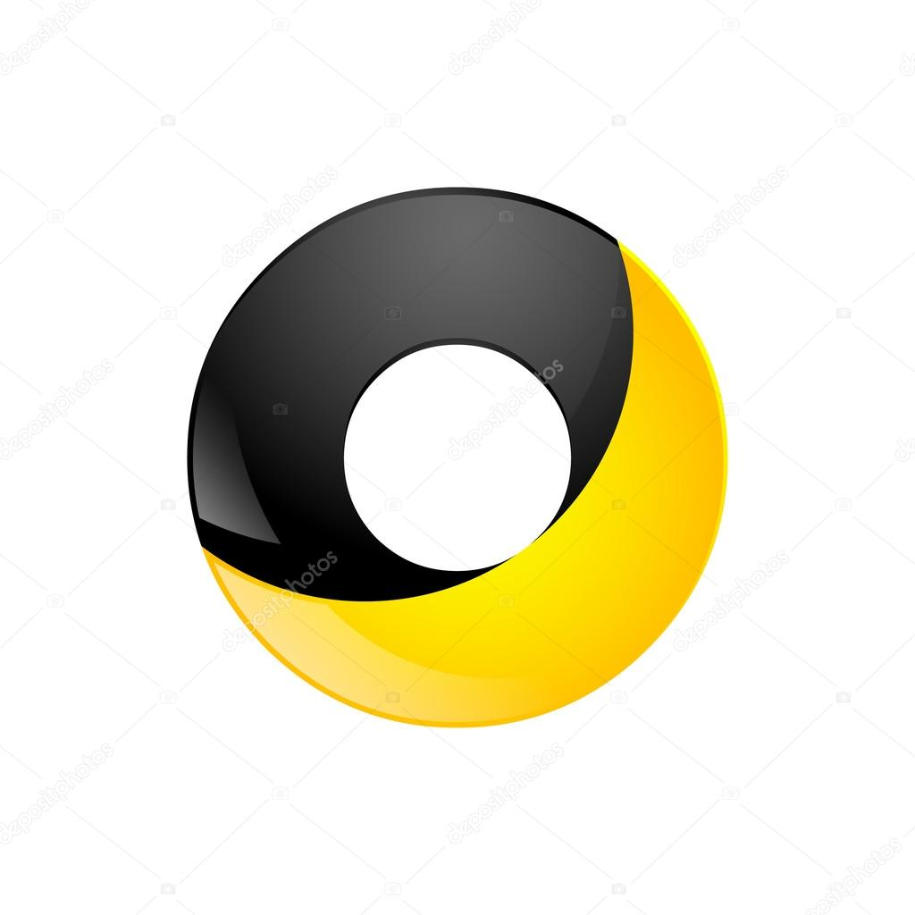 Creative yellow and black symbol letter o for your application or creative yellow and black symbol letter o for your application or company design alphabet graphics 3d buycottarizona