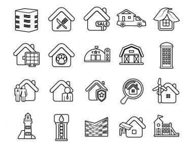 Modern thin line icons set. Construction works site building tools. Outline symbol collection. Stroke vector logo concept for web graphics. Simple mono linear pictogram pack icon
