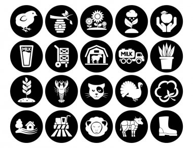 Vector icons pack agriculture farm collection icon