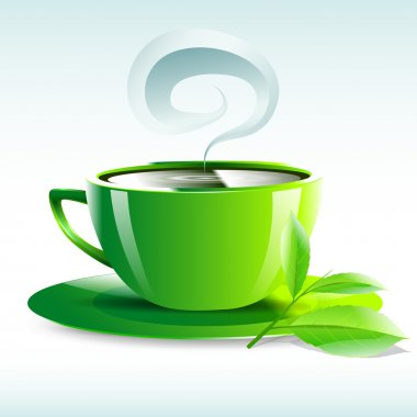 vector illustration of a yellow cup of hot tea grain pairs