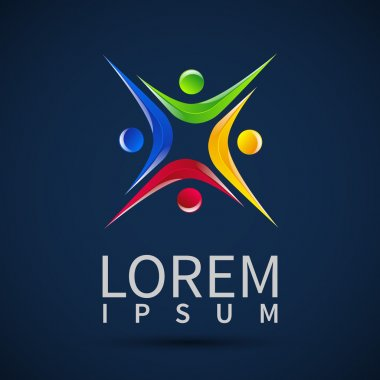 logo element Abstract people icon Design