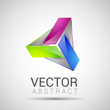 abstract element shape vector design icon