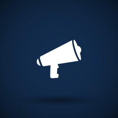 speaker icon broadcasting speak isolated scream