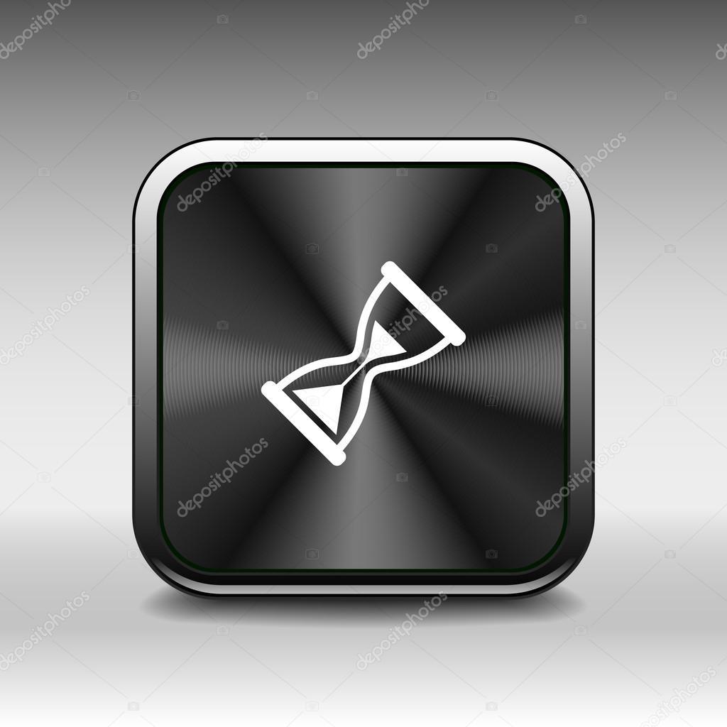 Sanduhr. Vektor Abbildung Symbol Zeitschaltuhr Uhr warten ...