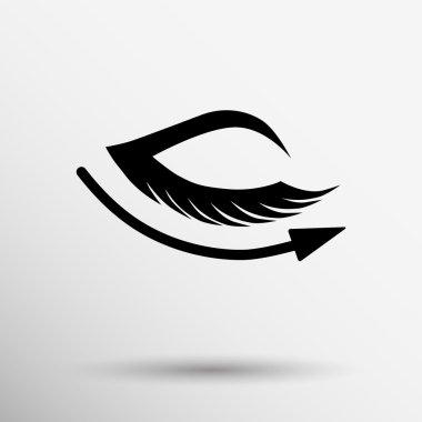vector eye with lashes long eyelashes icon