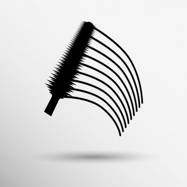 collection of a mascara  shapes each one is shot separately