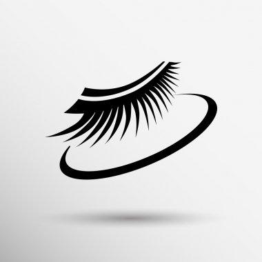 False lashes isolated eyelash fake eye woman up girl close