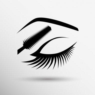 Fashion  beautiful woman with gothic black lips. Fashion Illustration. Perfect Make-up