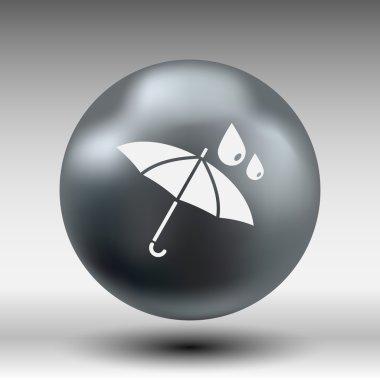 waterproof icon water proof vector symbol umbrella