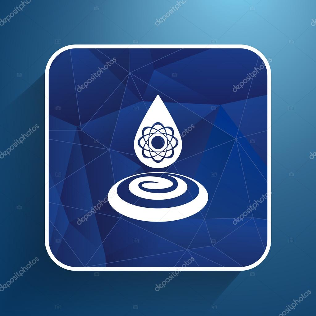 water molecule water chemistry atom symbol icon