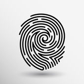 Fingerabdruck-Symbol Finger print Vektor Id-Diebstahl Makro Stempel