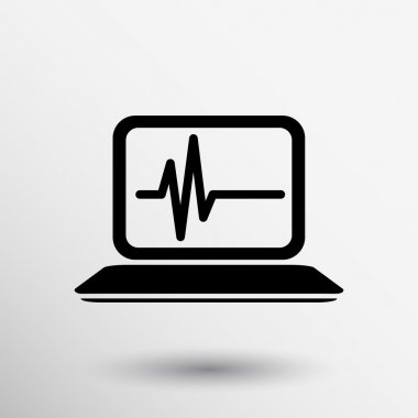 computer diagnostics icon laptop test isolated technical