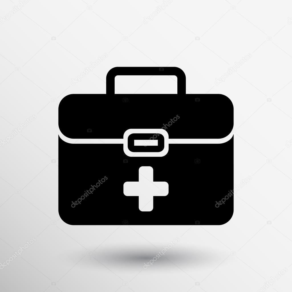 Cassetta Medica Di Pronto Soccorso Vettoriale Icona Kit Simbolo