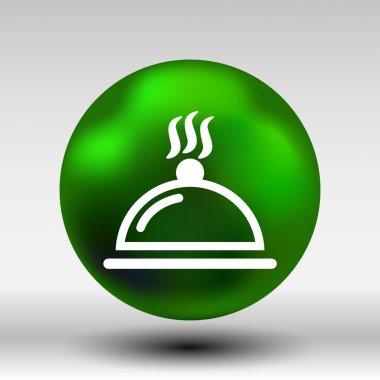Food platter serving sign icon logo food tableware