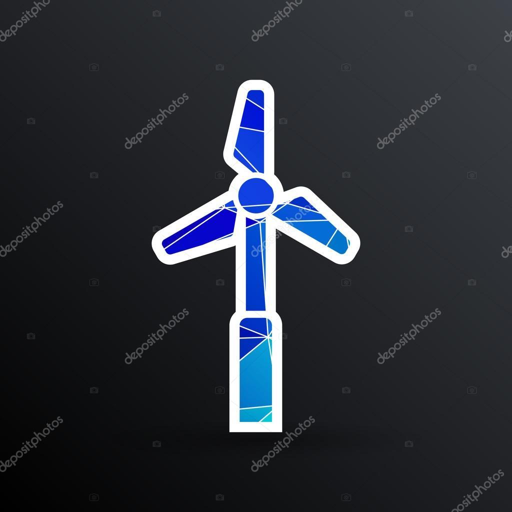 Symbol Vektor Turm elektrische Fußboden Generator propeller ...