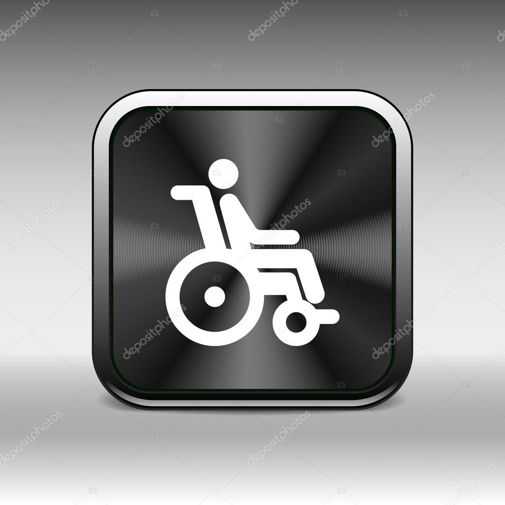 handicap handicapped chair wheel accessible an invalid icon ...