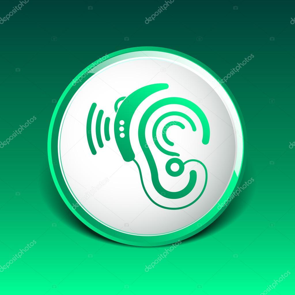 Ear Vector Icon Hearing Aid Ear Listen Sound Graphics Stock Vector