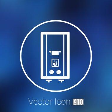 Vector Gas Boiler cold apparatus tank display thermal calorifier. clip art vector