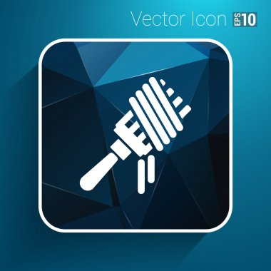Vector logo fork with pasta hot symbol