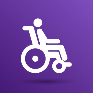 Handicap handicapped chair wheel accessible an invalid icon