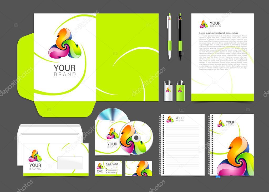 identidad corporativa creativa color plantilla diseño, negocios ...