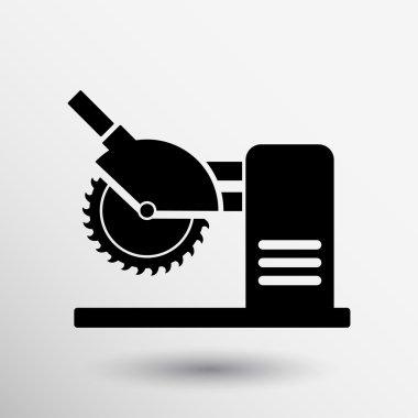 Saw tool icon vector button logo symbol concept