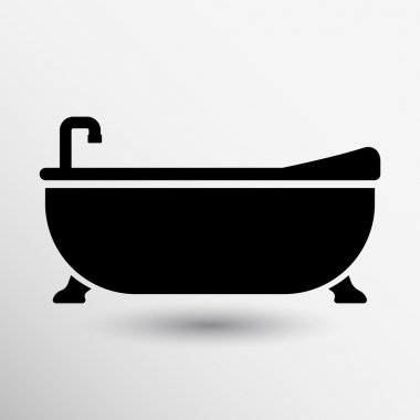 Bathtub bath icon vector button logo symbol concept
