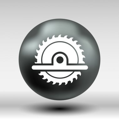 Circular Saw icon vector button logo symbol concept