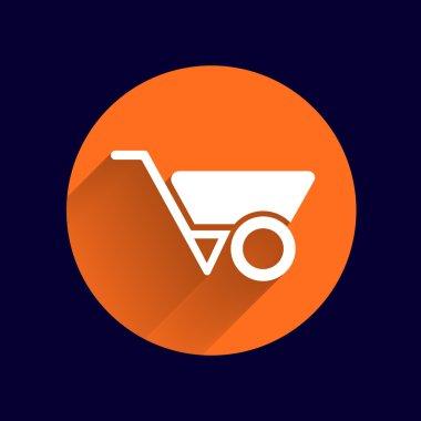 wheelbarrow icon vector button logo symbol concept