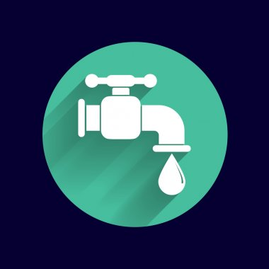 faucet icon vector button logo symbol concept