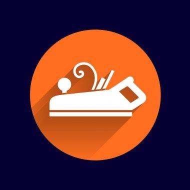 Jointer plane icon vector button logo symbol concept