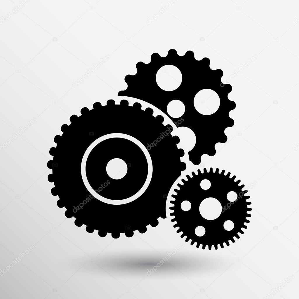 Top ícone de engrenagem vetor botão logotipo símbolo conceito — Vetor  EV52